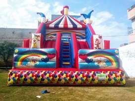Jumping slide and castle