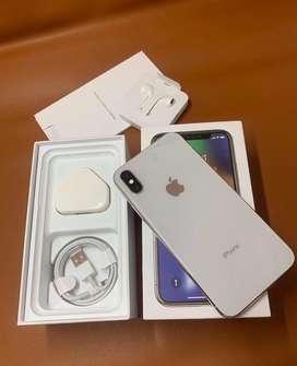 Iphone X 64gb silver 2nd fullset