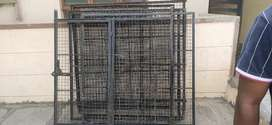 Dog cage made with metal