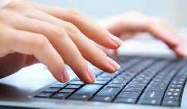 SIMPLE TYPING DATA WORK AT HOME
