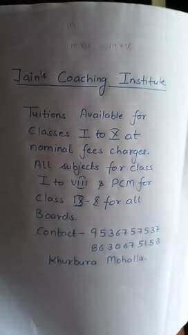 Tuition for all classes