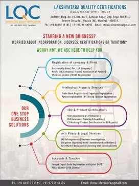 Trademark Registration,Copyright Registration,ISO Certification