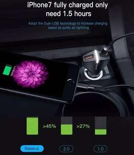 Car Charger Baseus Rocket Dual Usb - QC 3.0 - quick charging ORIGINAL