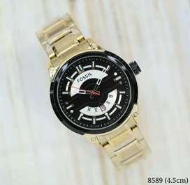 Jam tangan Fossil hitam gold terbaruuu