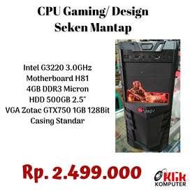 CPU Gaming G3220 VGA GTX 750Ti Murah
