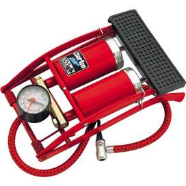 Car/Bike Double Cylinder Foot Pump don't forget getting a few powdered