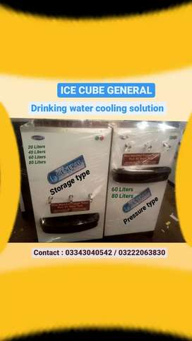 Ice cube general water cooler 40L to 80L water chiller & water filter