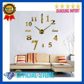 Jam Dinding Besar DIY Giant Clock Quartz 80-130cm  - Gold