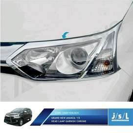 Garnish Chrome Headlamp Grand Avanza Include Pasang