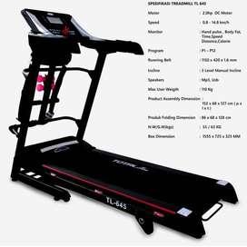 Hemat Biaya Treadmill Elektrik TL645 Fitness Olahraga