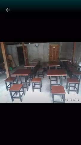Jual meja dan kursi buat caffe dll