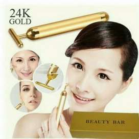 24K Energy Beauty T Bar Alat Meniruskan Wajah Gold Lifting