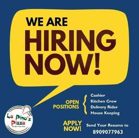 Need Boys for Kitchen Staff - Pizza cafe in Agra
