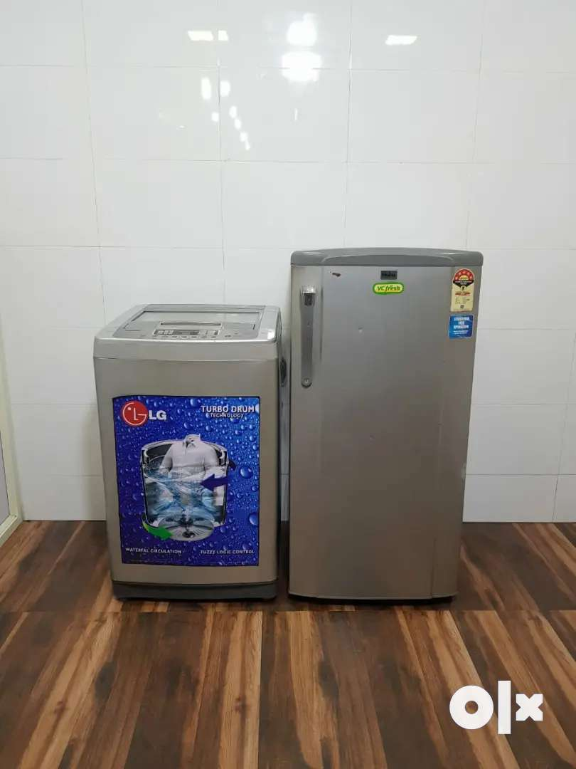Combo offers available lg fully automatic washing machine n haier frid