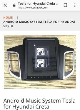 Android Music system tesla for Hyundai creta