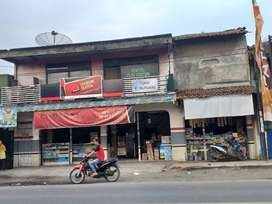 Dijual cepat tanah dan bangunan pinggir jalan raya provinsi