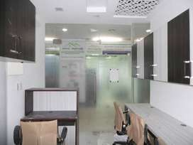 Fully-furnished 550 sqft office  space on rent in chd