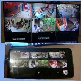 Camera CCTV online via HP