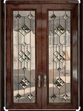 Designed glass for doors and windows