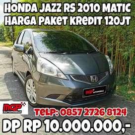 Honda Jazz RS 2010 Matic Jok Kulit Asli KM Rendah DP 10JT Istimewa