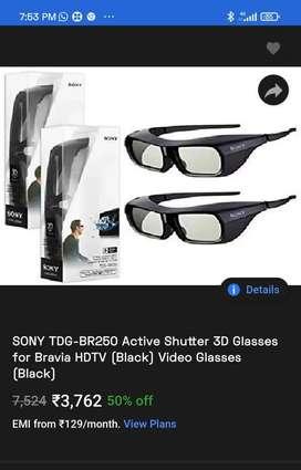 SONY 3D GLASSES,  FOR BRAVIA HDTV