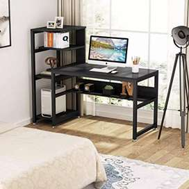 Modern Office/Study/Writing Table Workstation with Bookshelf