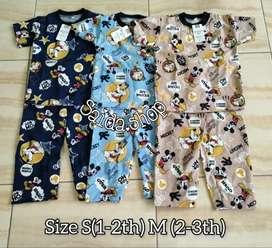 Pajamas pocket panjang mikky