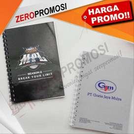 Souvenir Memo Agenda Custom Ukuran A6 Dengan Cover Artcarton