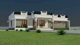 950sqftvilla/5cent/ 2 bhk/ 35 lakh/ Poochunnipadam Thrissur