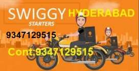 Swiggy Food Delivery executives in Hyd Full or PartTime and Weekends