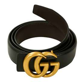 Ladies Gucci Belt (Leather) Double Sided (Black & Brown)Brow