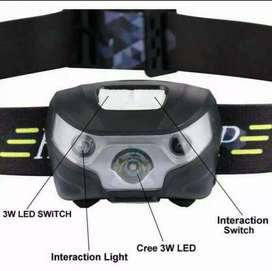 Headlamp senter kepala USB LED