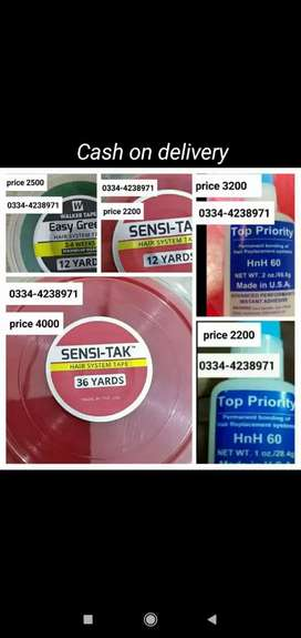 imported hair system tapes and glues in Pakistan.