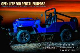 Open jeep for rent For wedding purpose Shooting