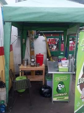 Booth minuman. Di jual murah BU full set lengkap