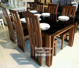 Wooden dining table sett