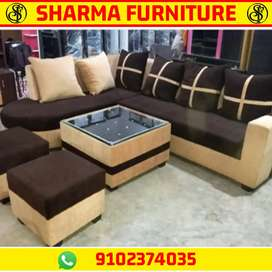 CORNER SOFA SET 5 YEARS WARRANTY AT SHARMA FURNITURE