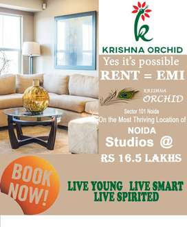 Affordable studio apartment available in Noida sector 101 @ 16.5 only