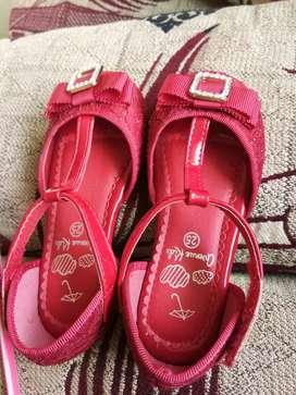 Luxury red stylish Baby Girl footwear