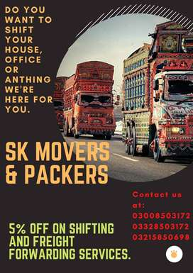 SK Movers -Experienced & Relaible Home Shifter & Trucks Provider