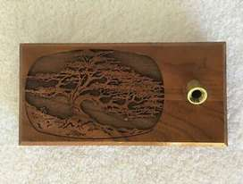 Lasercraft Laser Engraved Tree Walnut Wooden Desk Pen Holder for sale