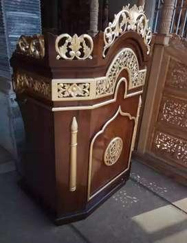 Mimbar masjid kayu jati 04