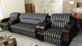 Brand new wooden handle sofa set at affordable price