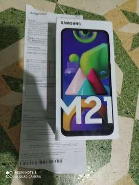 Samsung m21 4gb 64gb new seal pack
