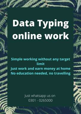 Data typing online work available at home with daily payout cash