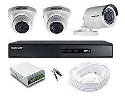 3 HD CCTV camera setup