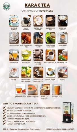 Get tea and coffee machines on contract per month