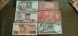 Jual uang kuno 1964,1960,1980,1987,1977