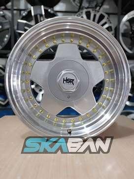 jual hsr wheel ring 16x8/9 h8(100/114,3) silver polish