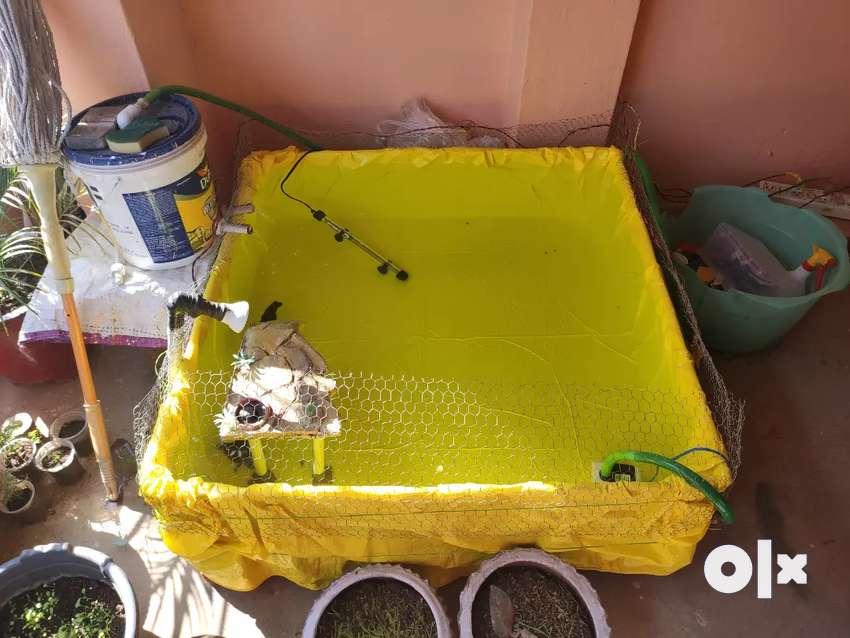 Big Iron Fish Tank With Tarpaulin (Tirpal) 0